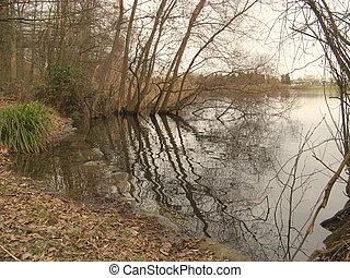 Winter mood at the lake