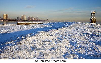 Winter morning in Chicago