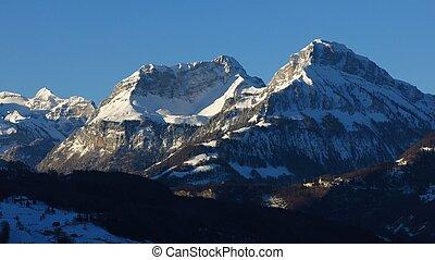 Winter morning in Schwyz