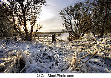 Winter morning - Yorkshire Dales - England - Winter morning...