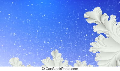 Winter motion background Loop - Blue and white abstract...