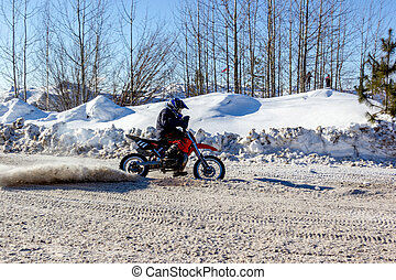 Winter motorcycle racing