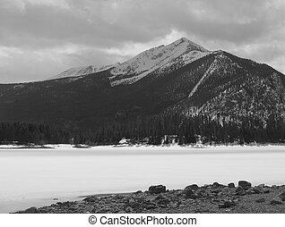 Winter, Mountain, and Lake