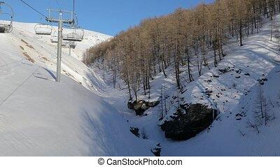 Winter Mountain Forest - Winter mountain snowy forest, ski...
