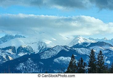 Winter Mountain Panorama Landscape At Sunset Slovakia High Tatras Canstock