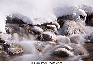 Winter Mountain Stream, Austria