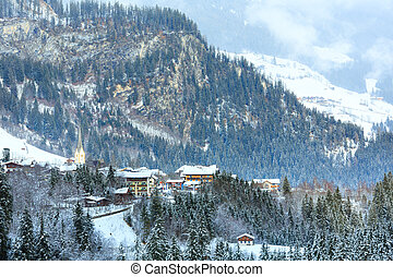 Winter mountain village (Austria, Tirol).