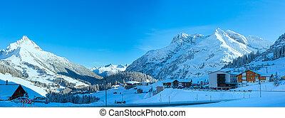 Winter mountain village (Austria, Tirol, Haselgehr)