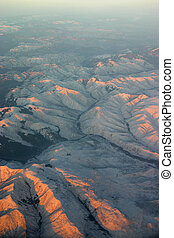 winter mountains aerial