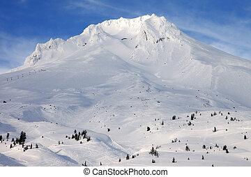winter., mt. capuchon