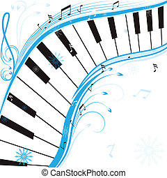 Winter music, christmas background . Vector illustration.