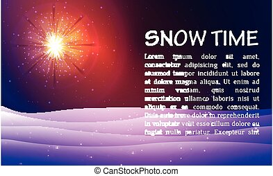 Winter night background with snow.