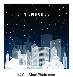 Winter night in Milwaukee.