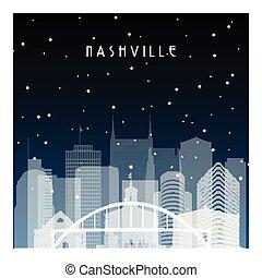 Winter night in Nashville.