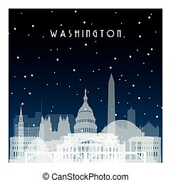Winter night in Washington.