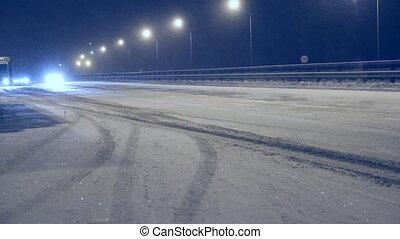 Winter night route