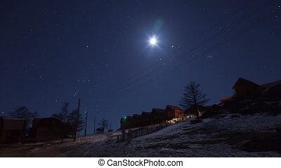 Winter night timelapse
