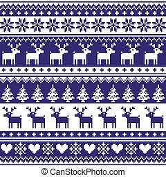 Winter, Nordic seamless pattern - Christmas vector ...