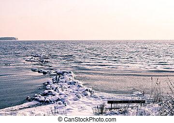 Winter on a island
