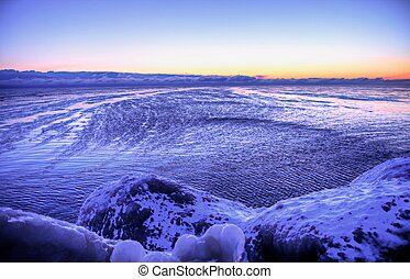 Winter On The Lake - Wind blows across the surface of a ...