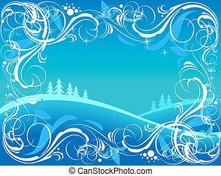 Winter ornate background