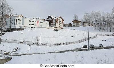 Winter panorama hotels in Roza Khutor plateau - Winter...