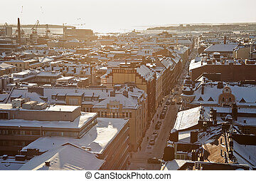 Winter panorama of Helsinki