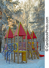 Winter park and playground