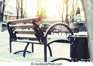 Winter Park bench Alley