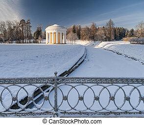 Winter park with rotunda