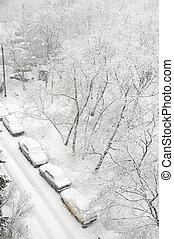 Winter parking car