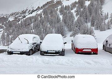 Winter parking cars