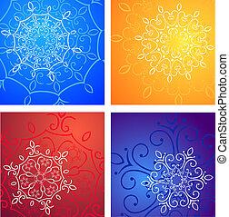 Winter patterns. Snowflakes