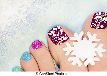Winter pedicure.