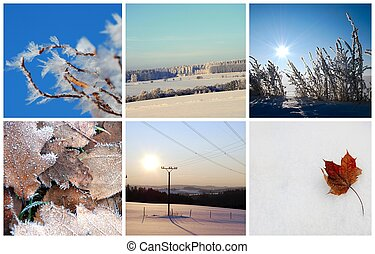 Winter photo collage.