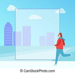 Winter Placard Filling Form on Vector Illustration