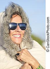 Winter Portrait mature woman - Pretty looking senior woman...