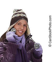 Winter portrait of a woman