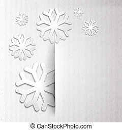 Winter post card with snowflake. illustration.