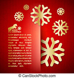 Winter post card. - Winter post card with snowflake. Vector ...