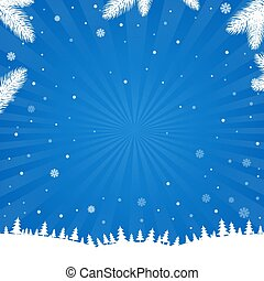 Winter Poster With Snowflake
