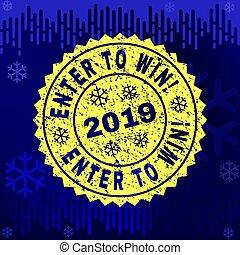 winter, postzegel, binnengaan, rubber, achtergrond, zeehondje, win!