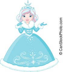 Winter Princess on a white background