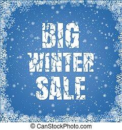 Winter Promotional Sale Blue Background