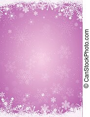 Winter purple christmas background with snowflake border