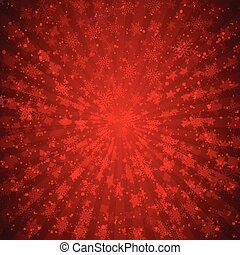Winter red background christmas made of snowflakes and snow with blank copy space for your text