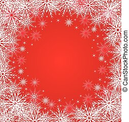 Winter red background