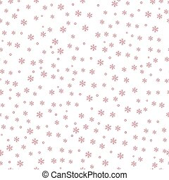 Winter red snow pattern background. vector illustration.