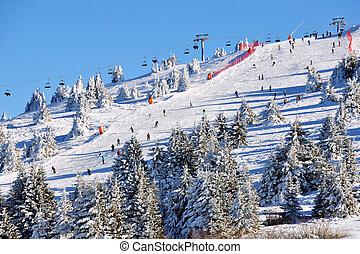 Winter resort Kopaonik, Serbia - Slopes of winter resort ...