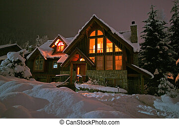 Winter Retreat - A winter home in Whistler, BC blanketed by...